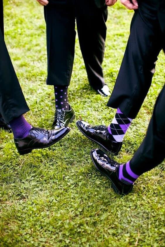Il calzino dello sposo e dei testimoni