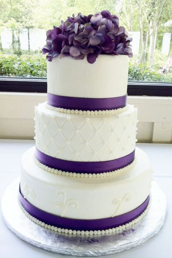 Torta viola matrimonio