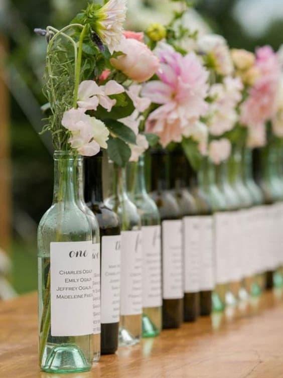tableau de mariage bottiglie