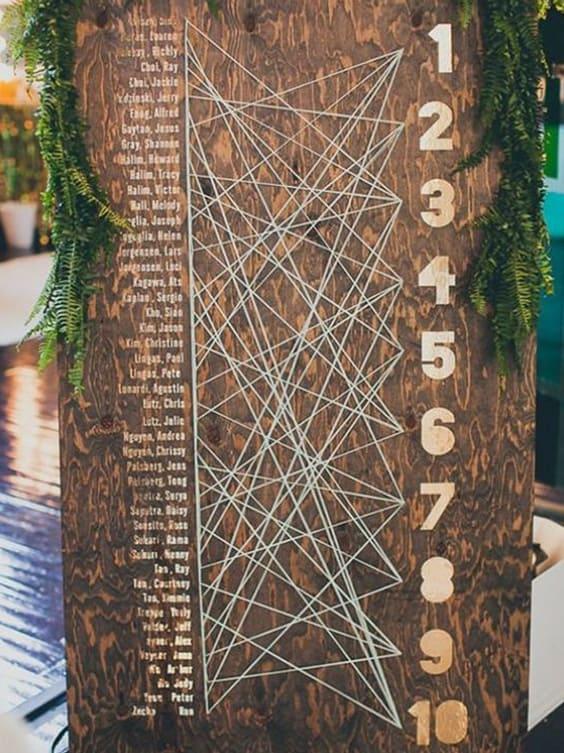 tableau de mariage originale legno
