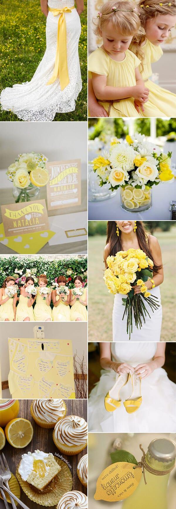 matrimonio a colori in giallo