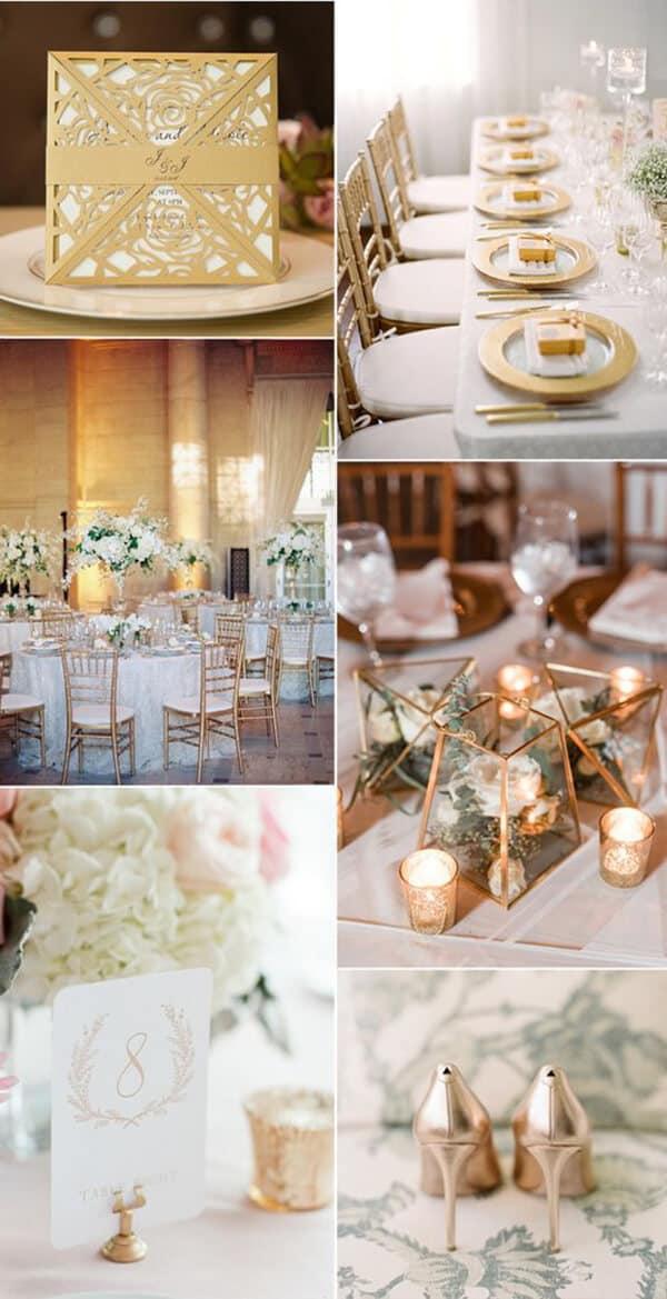 matrimonio a colori in oro e bronzo