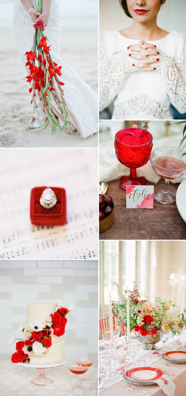 matrimonio a colori in rosso