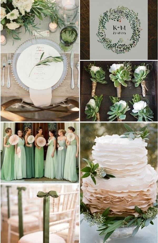 matrimonio a colori in verde
