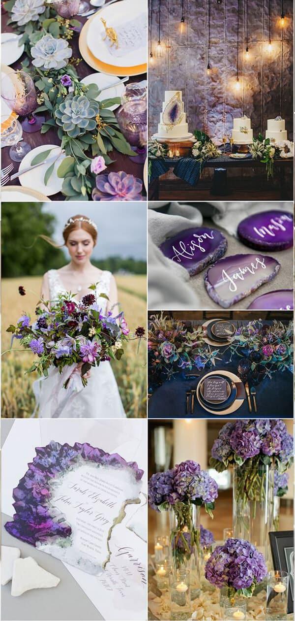 matrimonio a colori in viola