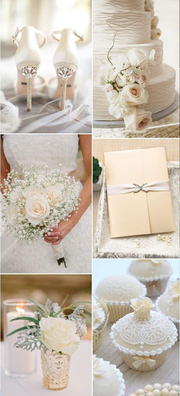 matrimonio a colori in bianco