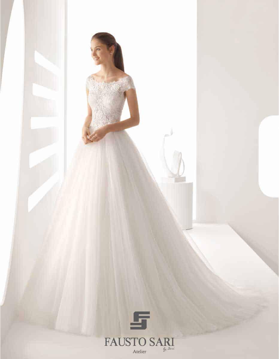 abito da sposa rosa clara tulle