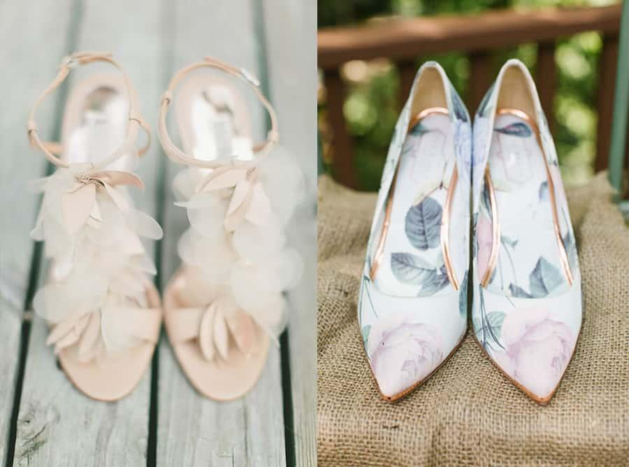 scarpe matrimonio fiori