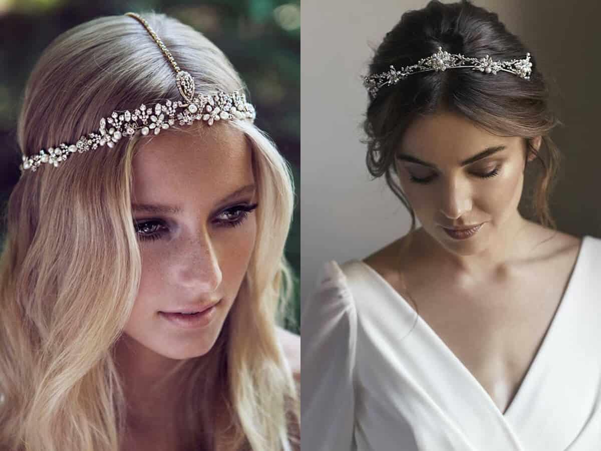 Acconciatura sposa 2019 con tiara o diadema