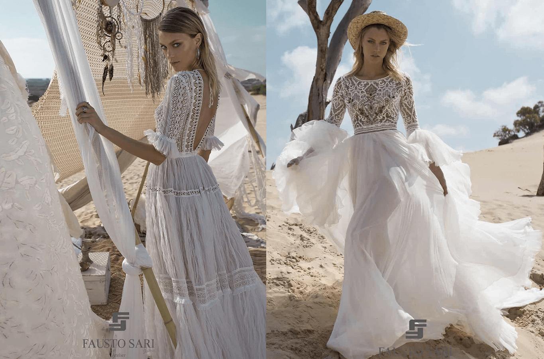 Abito da sposa fausto sari spiaggia