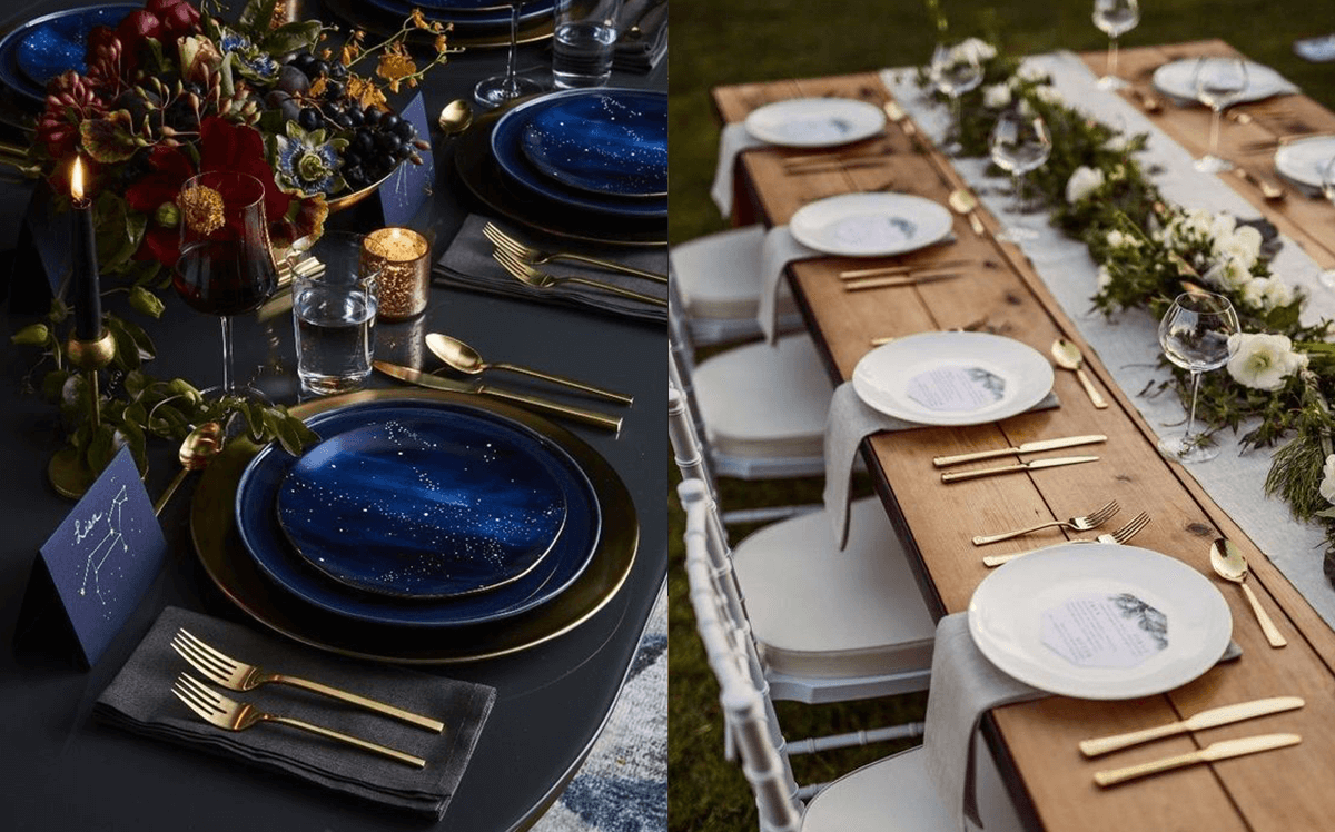 tavola elegante mise en place matrimonio