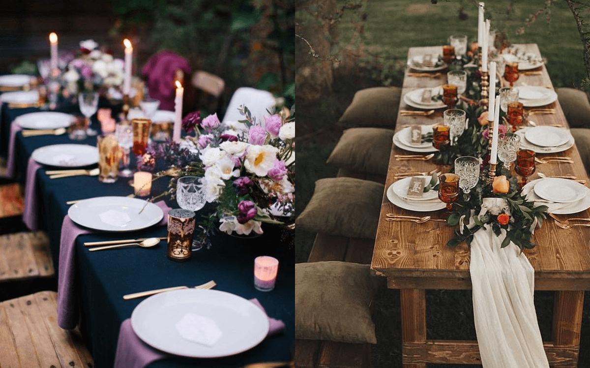 come apparecchiare la tavola al proprio matrimonio