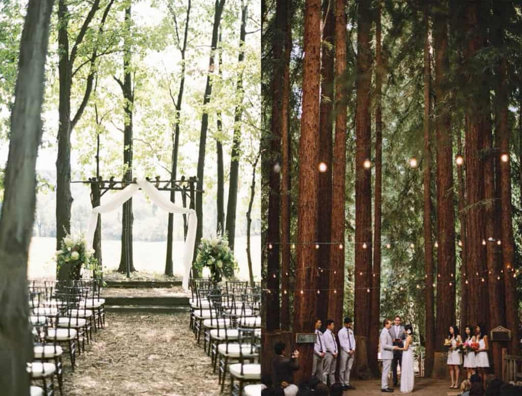 cerimonia matrimonio nella natura