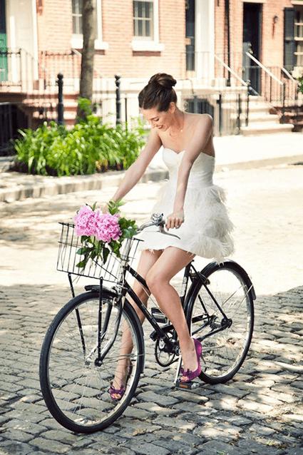 matrimonio green arrivare in bicicletta