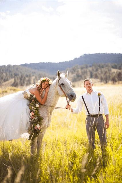 arrivare al matrimonio con il cavallo