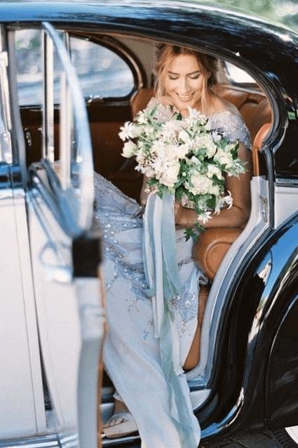 matrimonio chic mezzo di trasporto limousine