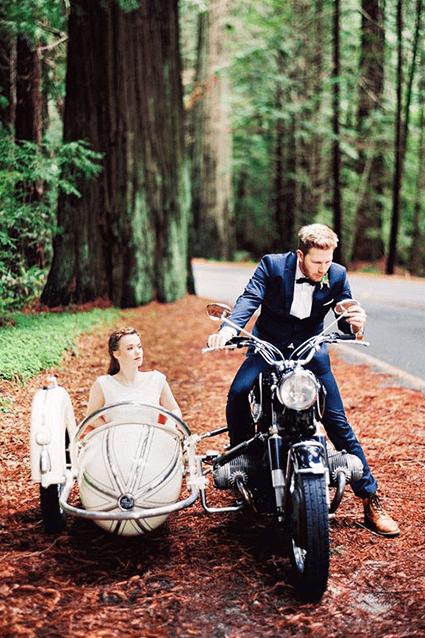 mezzo di trasporto matrimonio sidecar