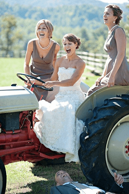 matrimonio mezzo di trasporto trattore campagna o country