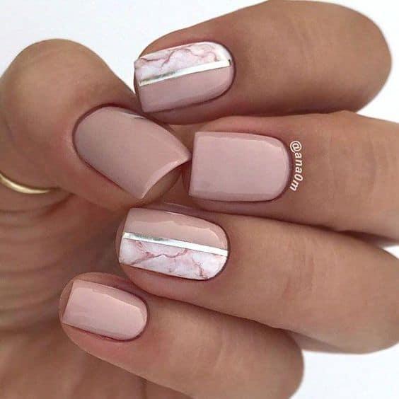 unghie sposa effetto marmo