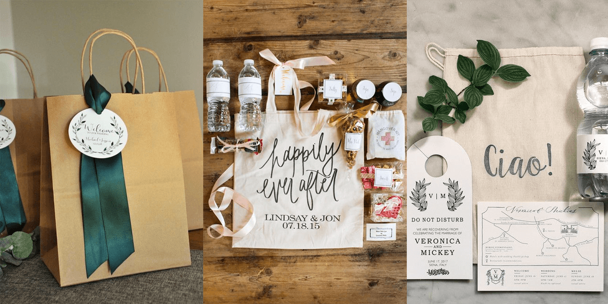 welcome bag matrimonio