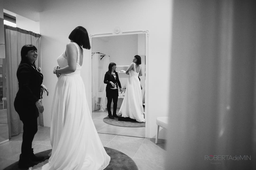 la prima prova dell'abito da sposa